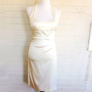 Betsy & Adam by Linda Bernell stretchy ivory dress