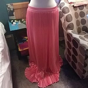 Pleated formal skirt