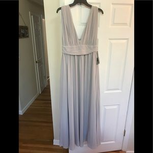 Lulu's Heavenly Hues grey maxi dress