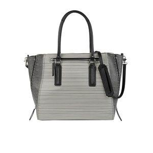 Stella and dot black and white Maddison Tech bag