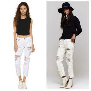 NWT! One Teaspoon Awesome Baggies White Jeans
