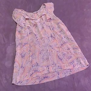 CAbi women's size large sheer sleeveless blouse