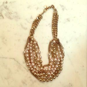 Stella & Dot pearl chain necklace