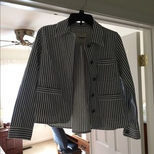 Madewell summer 17 Denim pinstripe jacket