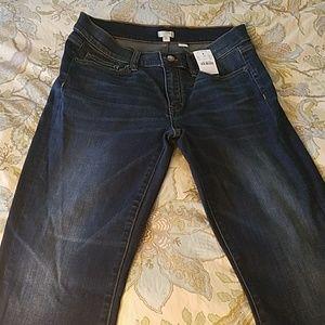 J Crew Stretch Denim Mid Rise Bootcut Jeans 28 NWT