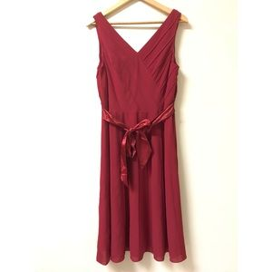 Adrianna Papell Red Holiday Dress
