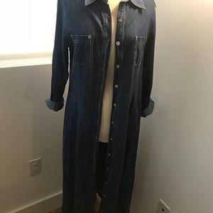 Long jean duster/dress