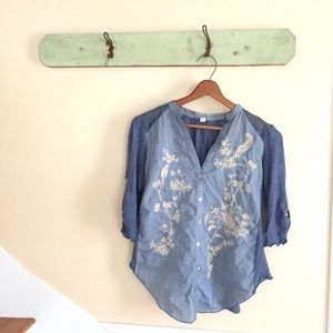 🆕{Listing} Anthropologie Embroidered Button Down