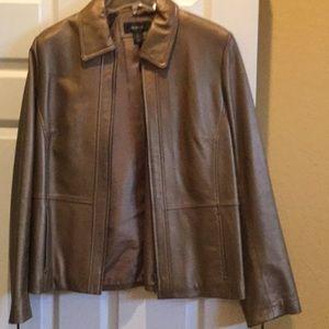 Misses/ladies bronze leather jacket