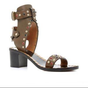 Isabel Marant Jaelyn Studded Sandals in Bronze