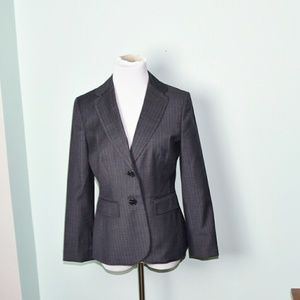 Ann Taylor Grey Sleek Blazer