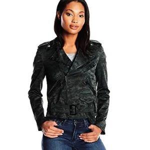 Anne Klien cami jacquard Moto jacket
