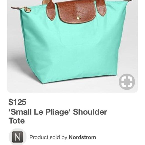 c8627b833f8 Longchamp Handbags - 'Medium Le Pliage' Tote LONGCHAMP Color Mint green