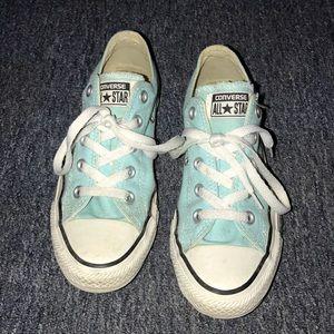 Aqua Blue Converse Sneakers