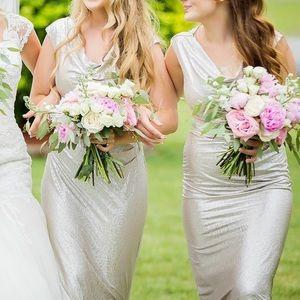 Metallic gown Ralph Lauren