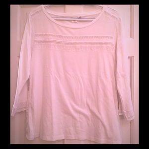 Gap white 3/4 sleeve