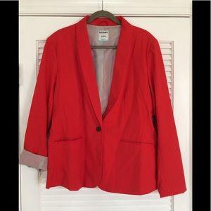 Gorgeous red blazer, old navy, size XL