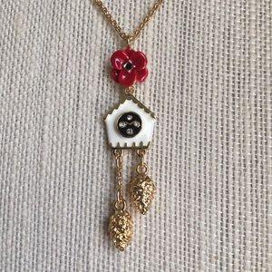 Kate Spade Cuckoo Clock Necklace NWOT