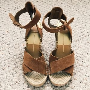 Dolce Vita brown leather wedges size 7