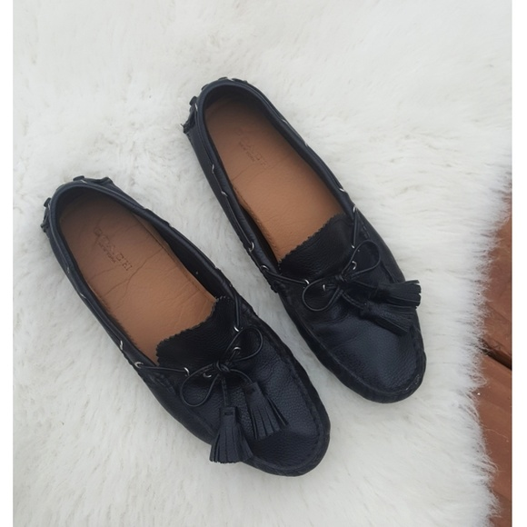c99da150db3f9 Coach Shoes   Nadia Leather Driving Loafer With Tassels   Poshmark