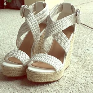 .Charlotte Russe White Wedges.