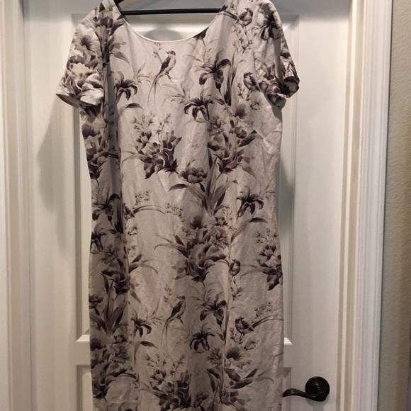 dc729ee224093 Ann Taylor Loft Linen Blend Sheath Dress plus size