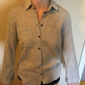 TOPSHOP heathered button down