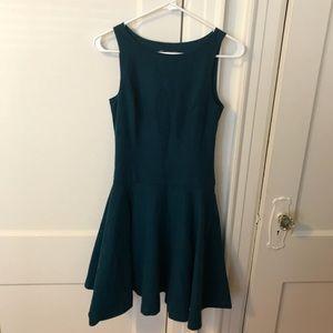 Armani Exchange Suede Flowy Teal Dress