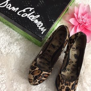 🌸OFFERS?🌸Sam Edelman Suede Animal Print Stiletto