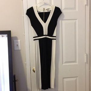 NWOT - H&M black & white midi dress!