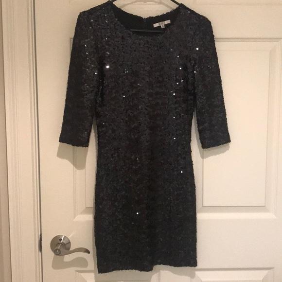 BB Dakota Dresses & Skirts - BB Dakota Black Sequin Mini Dress