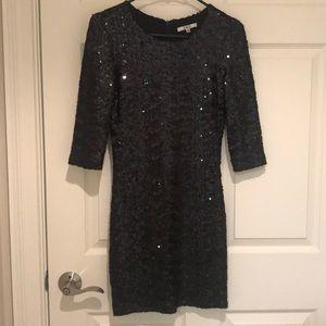 BB Dakota Black Sequin Mini Dress