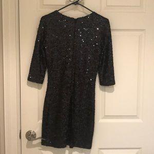 BB Dakota Dresses - BB Dakota Black Sequin Mini Dress