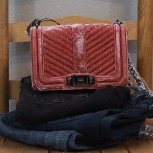 REBECCA MINKOFF | small love velvet crossbody bag