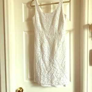 White Adriana Papell dress