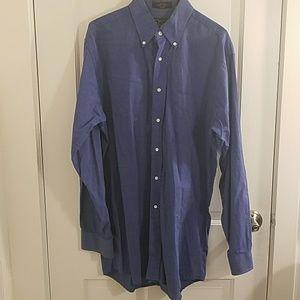 Jos A Bank Cotton Blue Buttown Down Dress Shirt