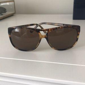 Versace polarized tortoiseshell sunglasses