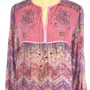 Vintage Indian Gauze Dress - Medium