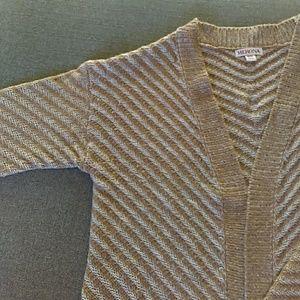 Caramel open front cardigan sweater