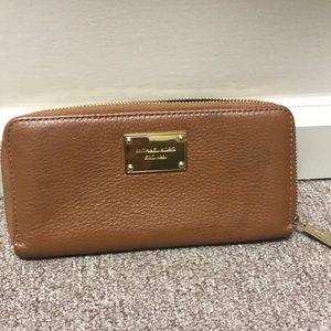 Michael Kors Cognac Leather Wallet