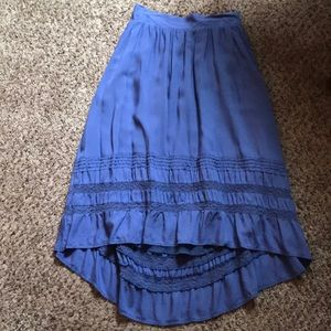 Light purple high low skirt