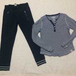 Girls Oshkosh Outfit Skinny Joggers + Long Sleeve