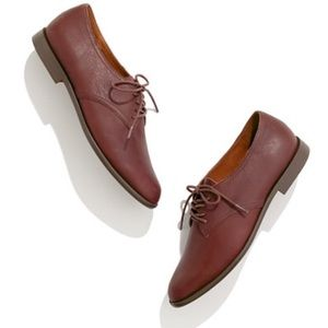 Madewell The Bobbie Oxfords Shoes in Cognac Brown