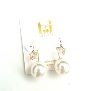 Star threas earrings