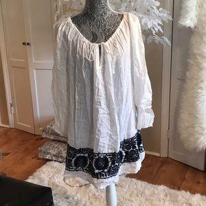 White linen tunic/dress
