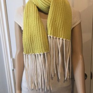 J.Crew warm scarf with fringes