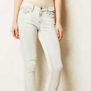 Pilcro and the Letterpress Light Wash Skinny Jeans