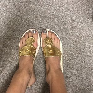 Jack Rogers Gold Sandals size 6