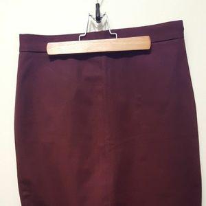 BR Burgundy Pencil Skirt