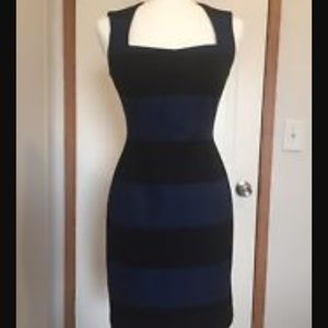 Banana republic Blue/Black Sloan dress *New 8P